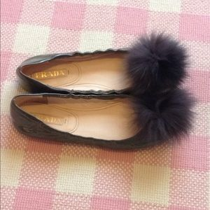 Authentic Prada Fox And Patent Leather Flats
